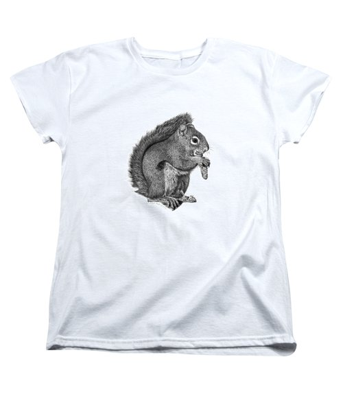058 Sweeney The Squirrel Women's T-Shirt (Standard Cut) by Abbey Noelle
