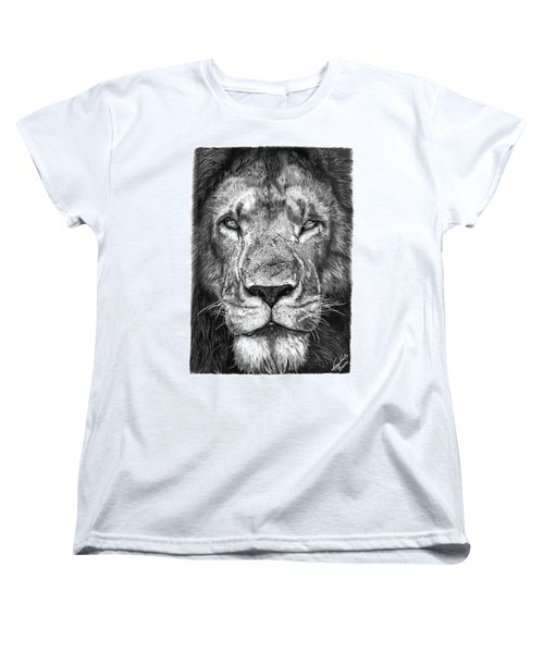 059 - Lorien The Lion Women's T-Shirt (Standard Cut) by Abbey Noelle