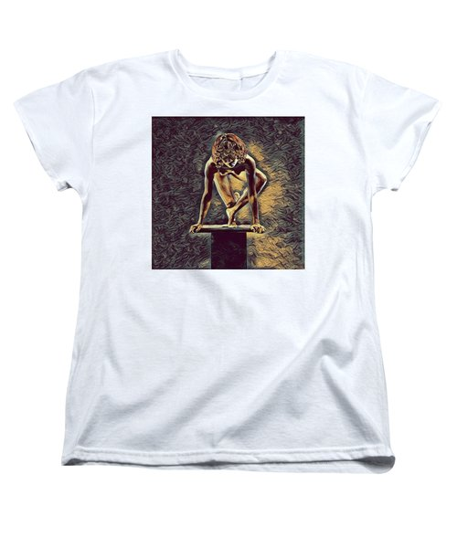 0948s-zak Dancer Balanced On Pedestal In The Style Of Antonio Bravo  Women's T-Shirt (Standard Cut)