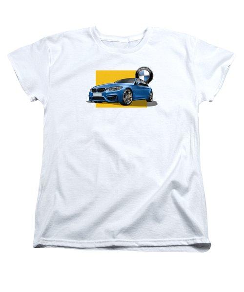 2016  B M W  M 3  Sedan With 3 D Badge  Women's T-Shirt (Standard Cut) by Serge Averbukh