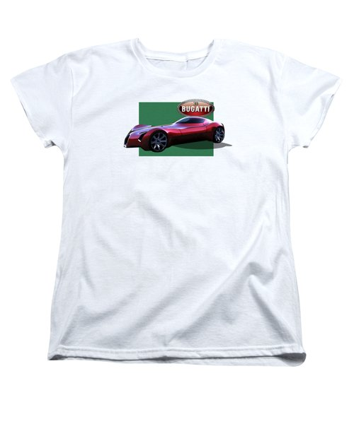 2025 Bugatti Aerolithe Concept With 3 D Badge  Women's T-Shirt (Standard Cut) by Serge Averbukh