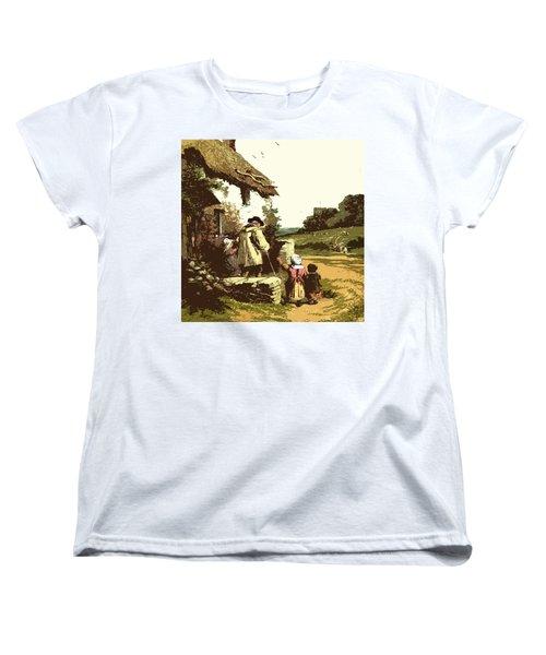 A Walk With The Grand Kids Women's T-Shirt (Standard Cut)