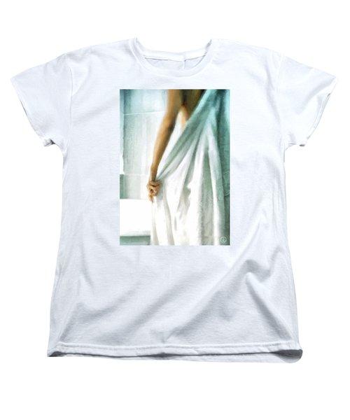 Women's T-Shirt (Standard Cut) featuring the digital art After The Bath by Gun Legler