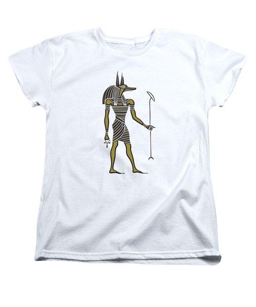 Anubis - God Of Ancient Egypt Women's T-Shirt (Standard Cut) by Michal Boubin