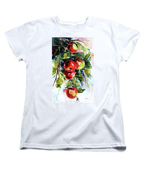 Apples Women's T-Shirt (Standard Cut) by Kovacs Anna Brigitta