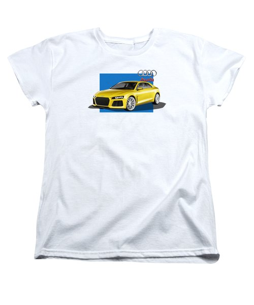 Audi Sport Quattro Concept With 3 D Badge  Women's T-Shirt (Standard Cut) by Serge Averbukh