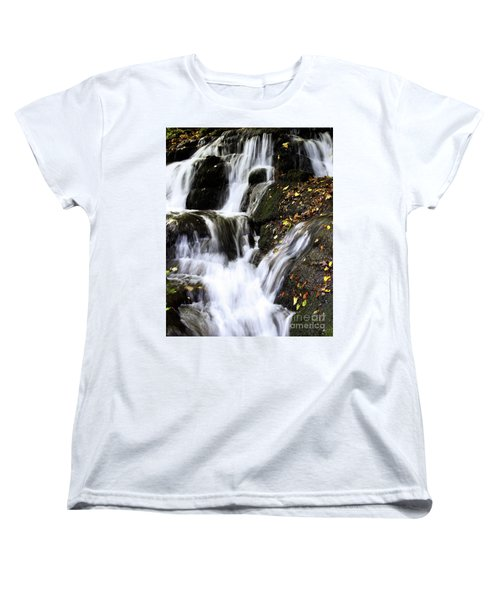 Women's T-Shirt (Standard Cut) featuring the photograph Badger Dingle Fall by Baggieoldboy
