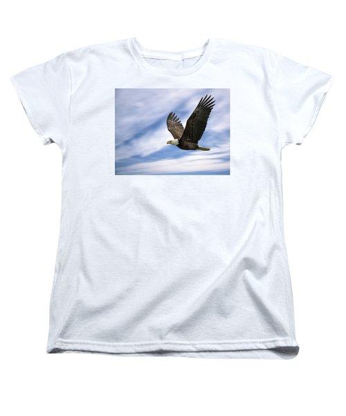 Bald Eagle - 365-12 Women's T-Shirt (Standard Cut) by Inge Riis McDonald