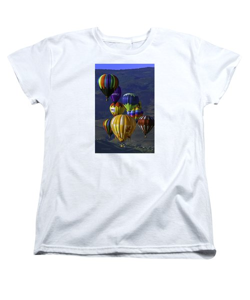 Balloons Over Reno Women's T-Shirt (Standard Cut) by Dorothy Cunningham