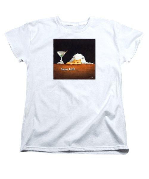 Bar Bill... Women's T-Shirt (Standard Cut) by Will Bullas