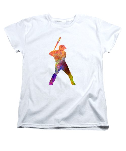 Baseball Player Waiting For A Ball Women's T-Shirt (Standard Cut) by Pablo Romero