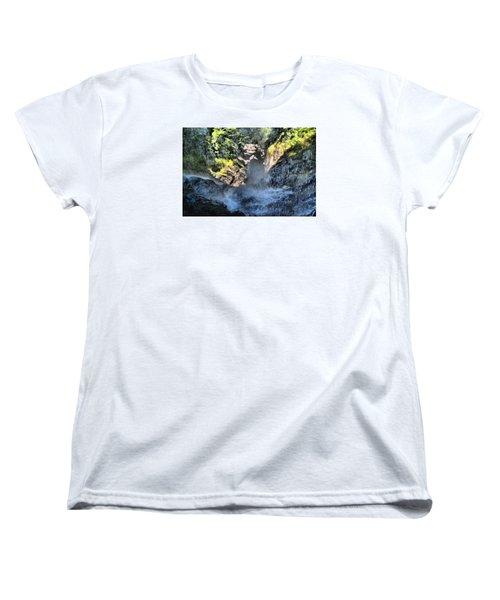 Behind The Falls Women's T-Shirt (Standard Cut) by James Potts