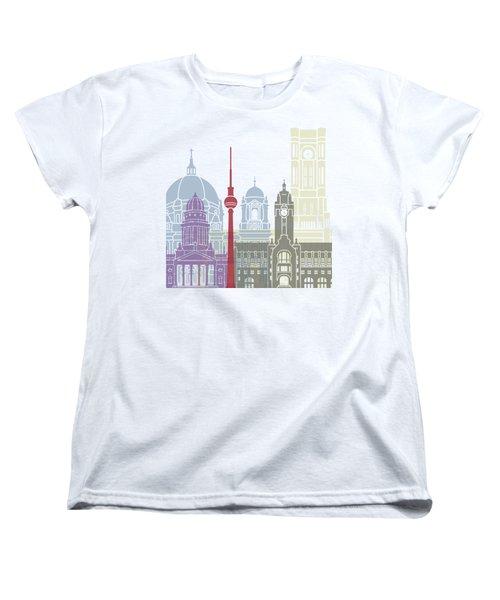 Berlin Skyline Poster Women's T-Shirt (Standard Cut)