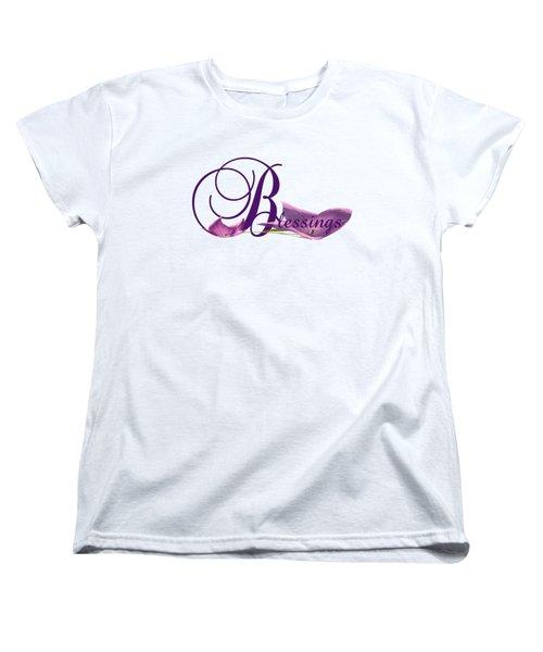 Blessings Women's T-Shirt (Standard Cut) by Ann Lauwers