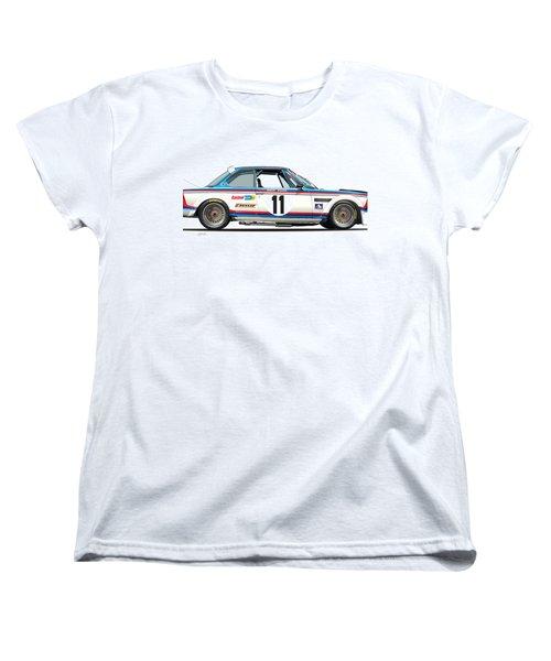 Bmw 3.0 Csl Chris Amon, Hans Stuck Women's T-Shirt (Standard Cut) by Alain Jamar
