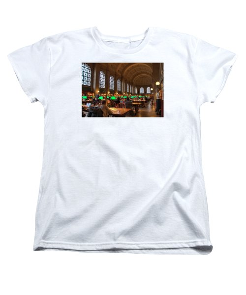Women's T-Shirt (Standard Cut) featuring the photograph Boston Public Library by Joann Vitali
