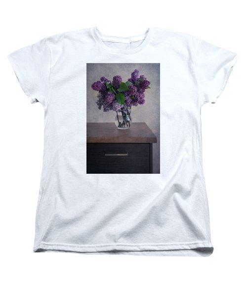 Women's T-Shirt (Standard Cut) featuring the photograph Bouquet Of Fresh Lilacs by Jaroslaw Blaminsky