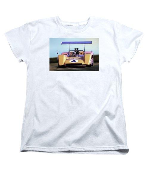 Women's T-Shirt (Standard Cut) featuring the digital art Bruce Mclaren M8b by Peter Chilelli