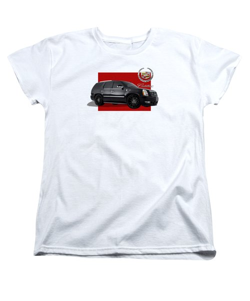 Cadillac Escalade With 3 D Badge  Women's T-Shirt (Standard Cut) by Serge Averbukh
