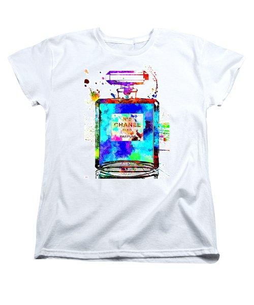 Chanel No. 5 Grunge Women's T-Shirt (Standard Cut) by Daniel Janda