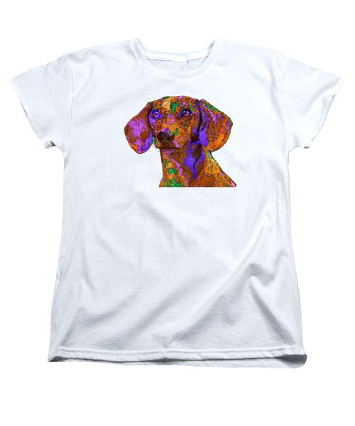 Chloe. Pet Series Women's T-Shirt (Standard Cut) by Rafael Salazar