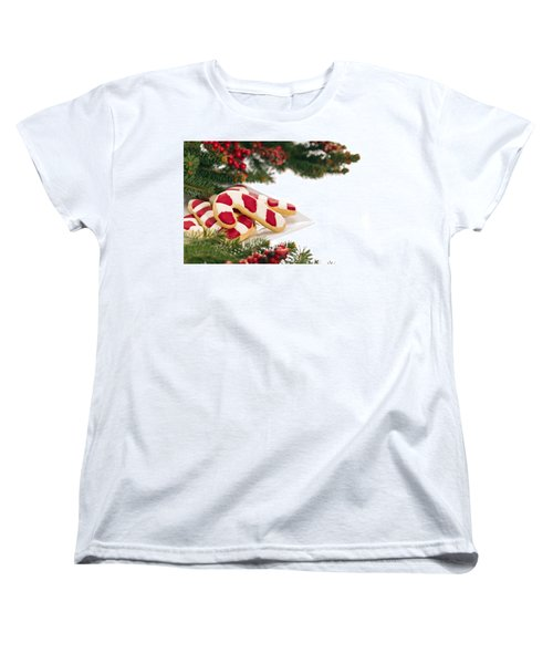Christmas Cookies Decorated With Real Tree Branches Women's T-Shirt (Standard Cut) by Ulrich Schade