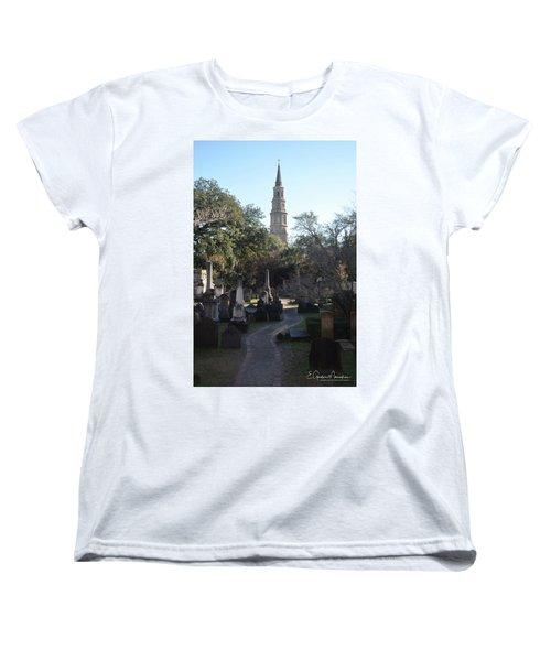 Circular Congregational Graveyard 3 Women's T-Shirt (Standard Cut) by Gordon Mooneyhan