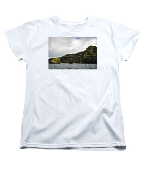 Women's T-Shirt (Standard Cut) featuring the photograph Cliffs Of Moher From The Sea by RicardMN Photography