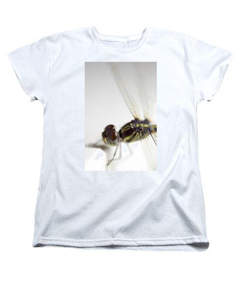 Close Up Shoot Of A Anisoptera Dragonfly Women's T-Shirt (Standard Cut) by Ulrich Schade