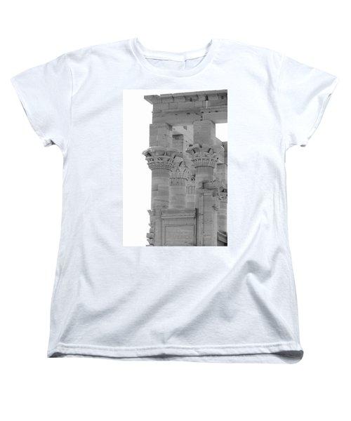 Columns Women's T-Shirt (Standard Cut) by Silvia Bruno