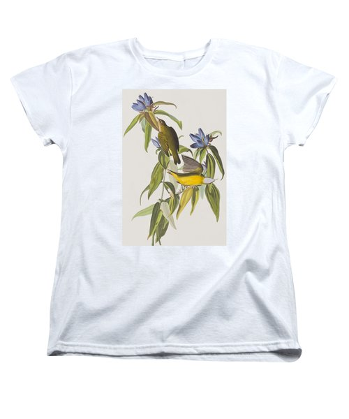 Connecticut Warbler Women's T-Shirt (Standard Cut) by John James Audubon