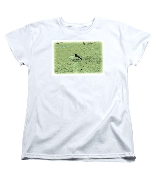 Crow And Bath Women's T-Shirt (Standard Cut) by YoMamaBird Rhonda