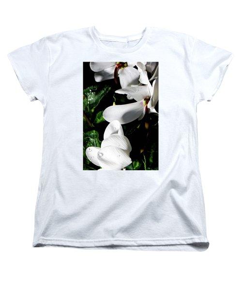 Women's T-Shirt (Standard Cut) featuring the photograph Cyclamen by Mindy Newman