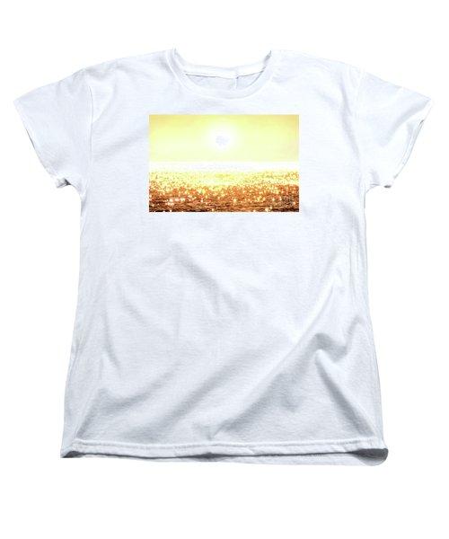 Rose Gold Diamonds Women's T-Shirt (Standard Cut)