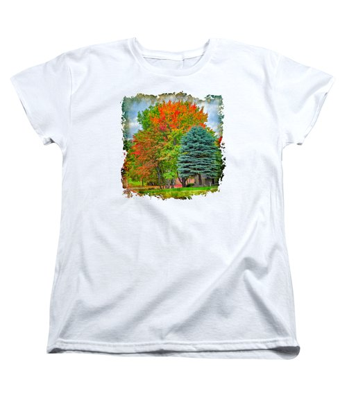 Fall Colors Women's T-Shirt (Standard Cut) by John M Bailey