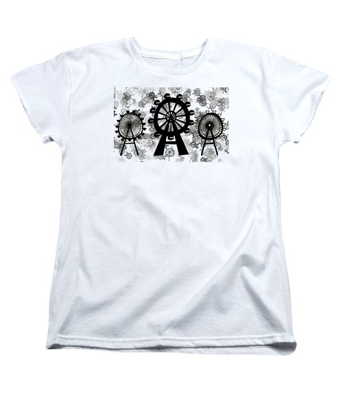 Ferris Wheel - London Eye Women's T-Shirt (Standard Cut) by Michal Boubin