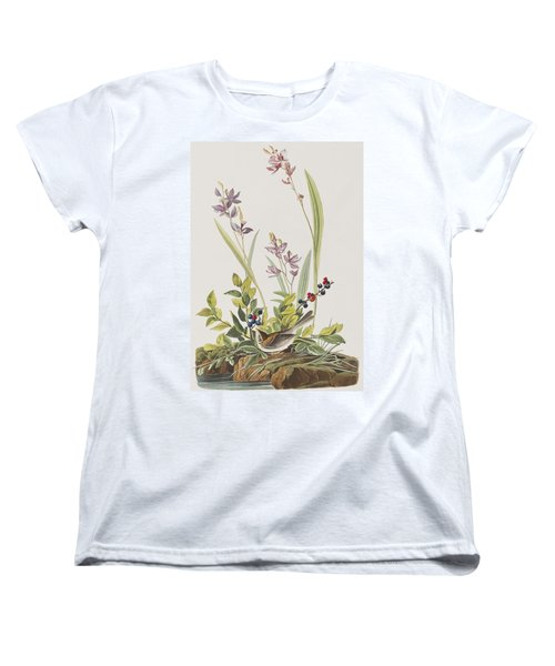 Field Sparrow Women's T-Shirt (Standard Cut) by John James Audubon