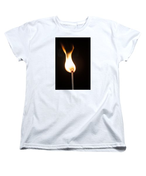 Women's T-Shirt (Standard Cut) featuring the photograph Flame by Tyson and Kathy Smith
