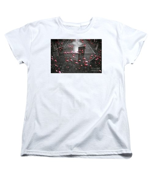 Women's T-Shirt (Standard Cut) featuring the photograph Flamingo by Setsiri Silapasuwanchai
