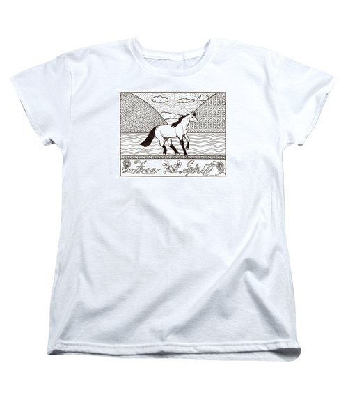 Free Spirit Women's T-Shirt (Standard Cut) by Wendy Coulson