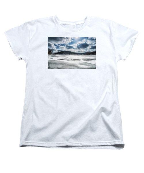Frozen Lake Women's T-Shirt (Standard Cut) by Thomas R Fletcher