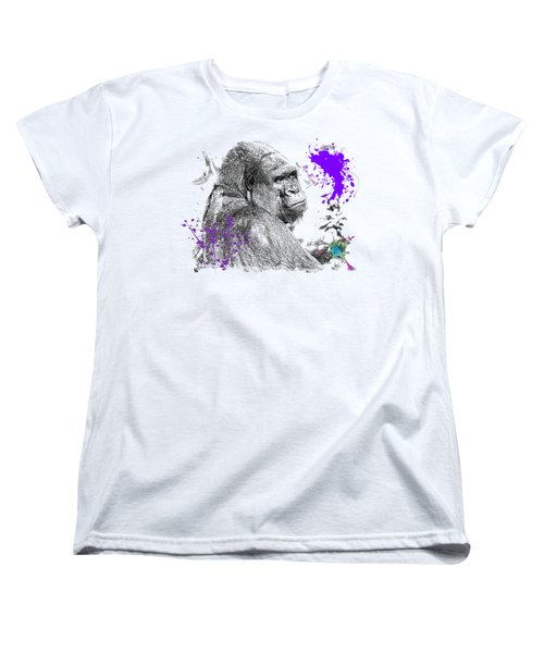 Gorilla Women's T-Shirt (Standard Cut) by Maria Astedt