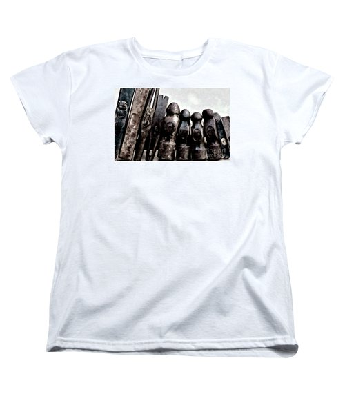 Women's T-Shirt (Standard Cut) featuring the photograph Hammer Heads  by Wilma Birdwell
