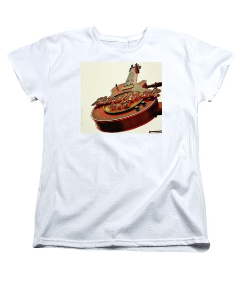 Women's T-Shirt (Standard Cut) featuring the photograph Hard Rock Cafe' by Al Fritz