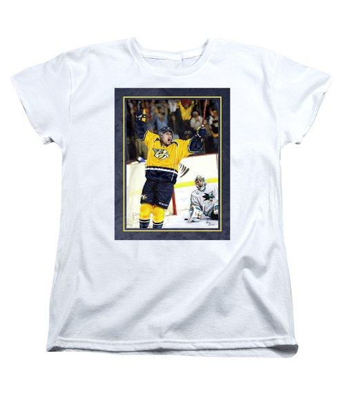 He Shoots He Scores Women's T-Shirt (Standard Cut) by Don Olea