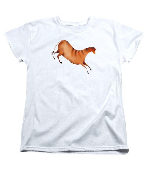 Horse A La Altamira Women's T-Shirt (Standard Cut) by Michal Boubin