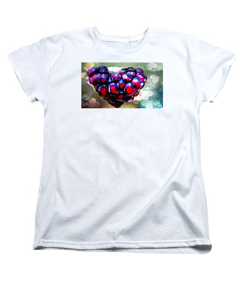 Women's T-Shirt (Standard Cut) featuring the painting I Heart You by Genevieve Esson