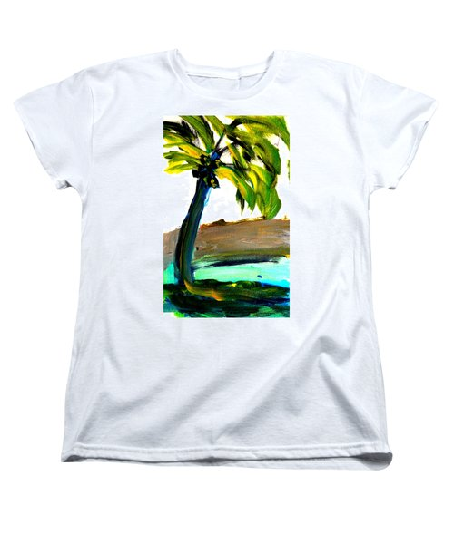 Women's T-Shirt (Standard Cut) featuring the painting Island Time by Fred Wilson