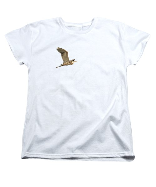 Women's T-Shirt (Standard Cut) featuring the photograph Isolated Great Blue Heron 2015-5 by Thomas Young