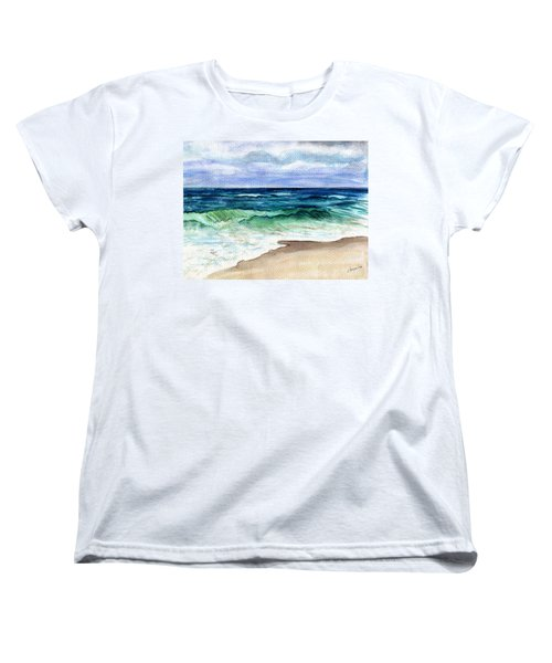 Jersey Shore Women's T-Shirt (Standard Cut) by Clara Sue Beym